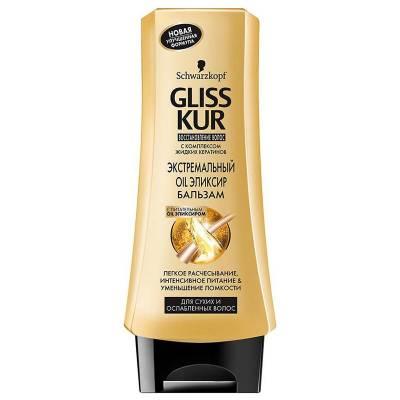 """Бальзам Gliss Kur """"Экстремальный Oil Эликсир"""", для сухих и ослабленных волос, 200 мл"""