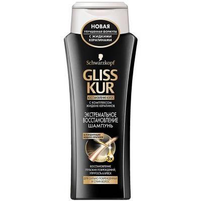 """Gliss Kur Шампунь """"Экстремальное восстановление"""", для сильно поврежденных и сухих волос, 250 мл"""