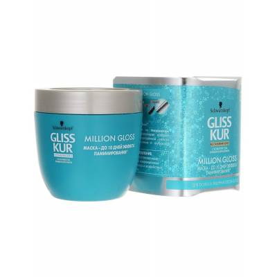 """Маска Gliss Kur - эффект ламинирования Million Gloss """"Ослепительный блеск"""", для тусклых и лишенных блеска волос"""