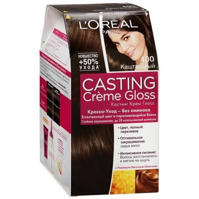 Краска для волос Casting Creme Gloss 400 Каштан