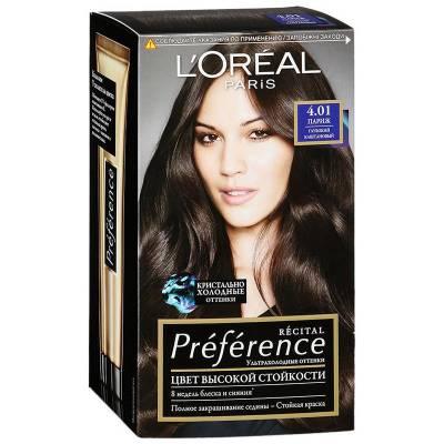 Краска для волос Preference 4.01 Париж Глубокий каштан