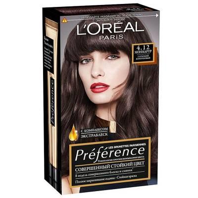 Краска для волос Preference 4.12 Монмартр Глубокий коричневый