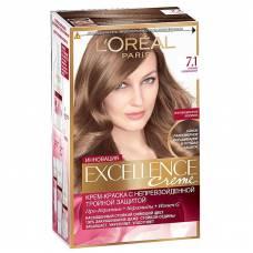 Краска для волос Excellence 7.1 Русый пепельный