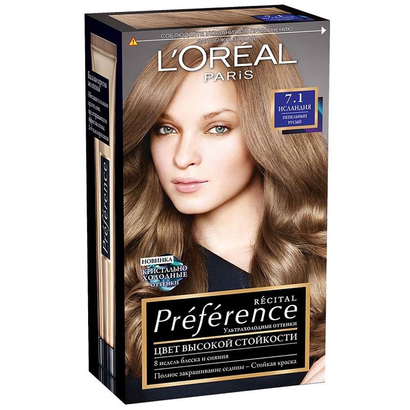 Краска для волос лореаль преферанс палитра цветов фото на волосах отзывы