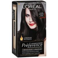 Краска для волос Preference 3.12 Муленруж Глубокий тёмно-коричневый
