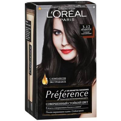 Краска для волос Preference 3.12 Муленруж Глубокий темно-коричневый