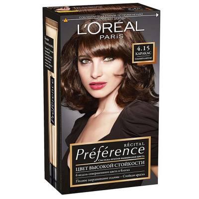 Краска для волос Preference 4.15 Каракас Темный каштан