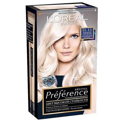 Краска для волос Preference 11.11 Ультраблонд холодный пепельный