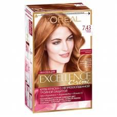 Краска для волос Excellence 7.43 Медно-русый