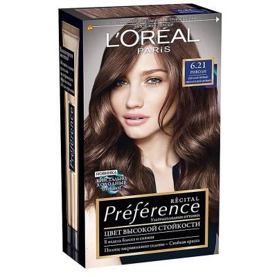 Краска для волос Preference 6.21 Риволи Перламутровый светло-каштановый