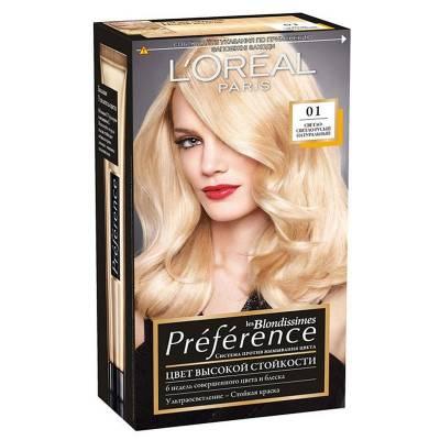 Краска для волос Preference 01 Светло-светло-русый натуральный
