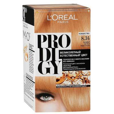 Краска для волос Prodigy 8.34 Сандал
