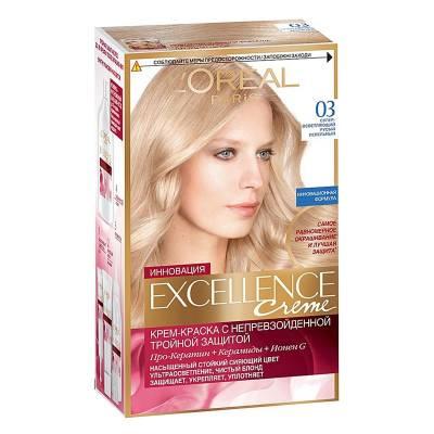 Краска для волос Excellence 03 Супер-осветляющий русый пепельный
