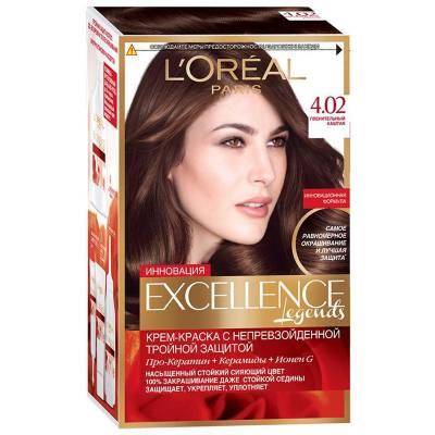 Краска для волос Excellence 4.02 Пленительный каштан