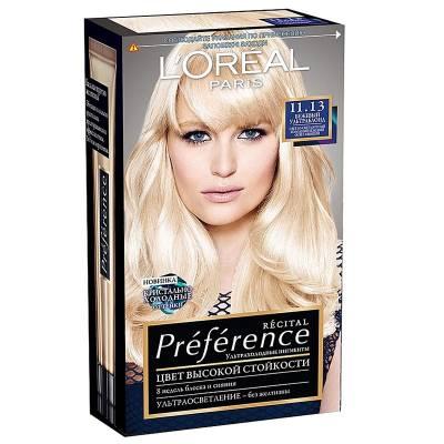 Краска для волос Preference 11.13 Ультраблонд холодный бежевый
