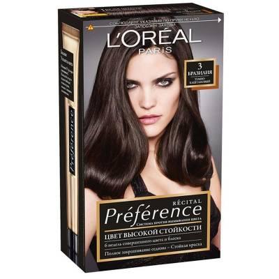Краска для волос Preference 3 Бразилия Темно-каштановый