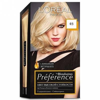 Краска для волос Preference 03 Светло-светло-русый пепельный