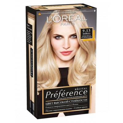 Краска для волос Preference 9.13 Байкал Очень светло-русый бежевый
