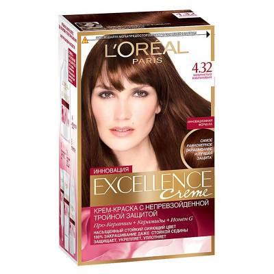 Краска для волос Excellence 4.32 Золотистый каштановый