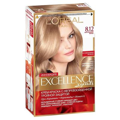 Краска для волос Excellence 8.12 Мистический блонд
