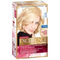 Краска для волос Excellence 01 Супер-осветляющий русый натуральный