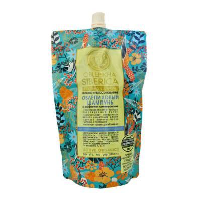 Облепиховый шампунь для ослабленных и поврежденных волос, пакет дой-пак, 500 мл