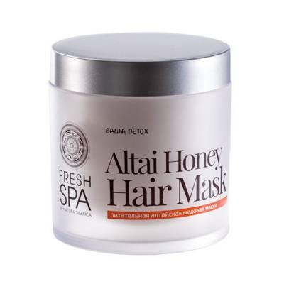 Маска питательная для окрашенных волос «Медовая» Bania Detox, 400 мл