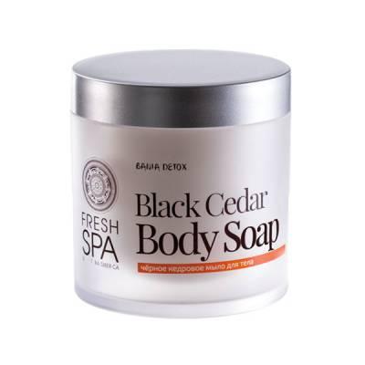 Мыло для тела «Черное кедровое» Bania Detox, 400 мл