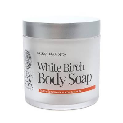 Белое берёзовое мыло для тела Bania Detox, 400 мл