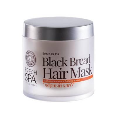 Маска для силы и блеска волос «Черный хлеб» Bania Detox, 400 мл