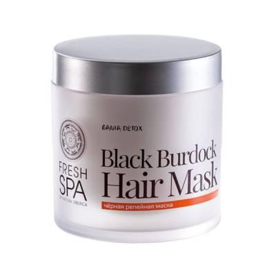 Маска для роста волос «Черная репейная» Bania Detox, 400 мл