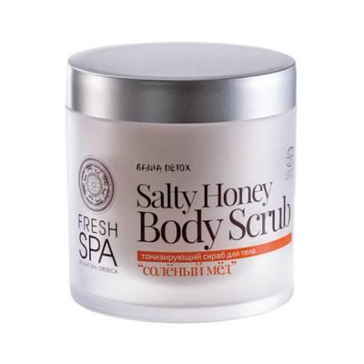 Тонизирующий скраб для тела «Соленый мед» Bania Detox, 400 мл
