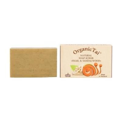 Натуральное мыло-скраб Экстракт улитки и сандаловое дерево