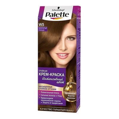 Palette Стойкая крем-краска для волос W5 Золотистый грильяж
