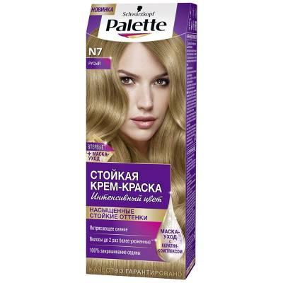 Palette Стойкая крем-краска для волос + маска-уход N7 Русый