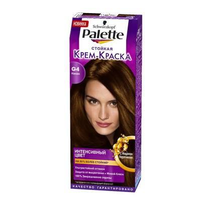 Palette Стойкая крем-краска для волос + маска-уход для волос G4 Какао