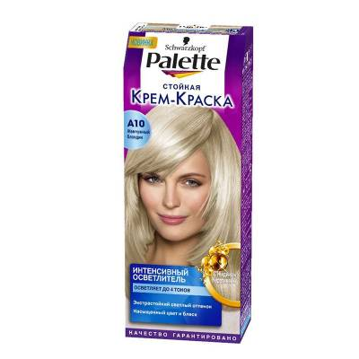 Palette Стойкая крем-краска для волос + маска-уход A10 Жемчужный блондин