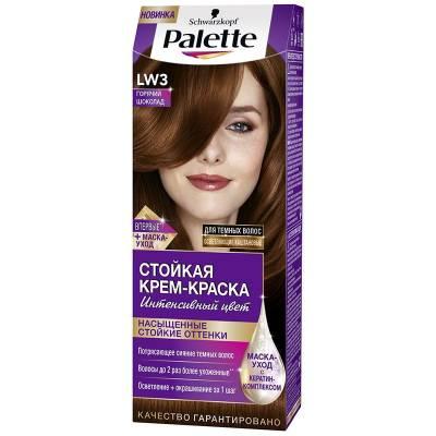 Palette Стойкая крем-краска для волос + маска-уход LW3 Горячий шоколад