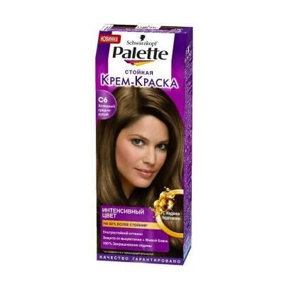 Palette Стойкая крем-краска для волос + маска-уход С6 Холодный средне-русый