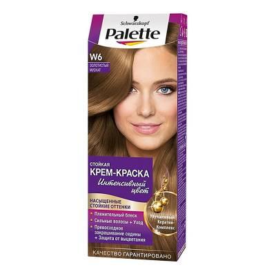Palette Стойкая крем-краска для волос + маска-уход W6 Золотистый мускат