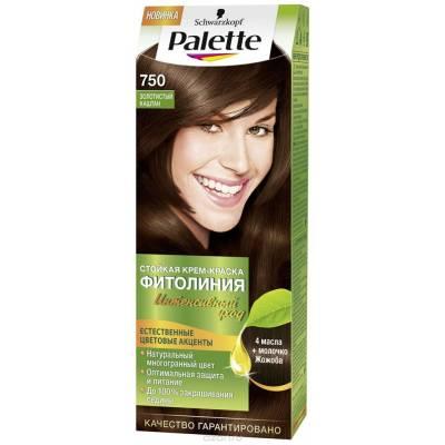 Palette Фитолиния Краска для волос 750 Золотистый каштан