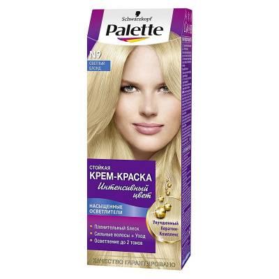 Palette Стойкая крем-краска для волос + маска-уход N9 Светлый Блонд