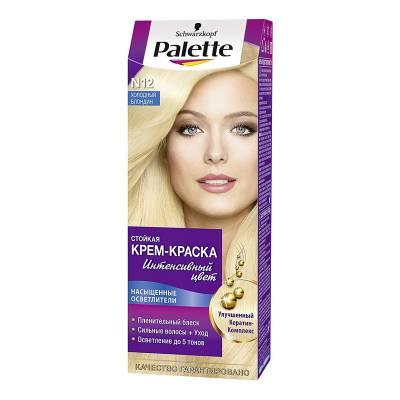 Palette Стойкая крем-краска для волос N12 Холодный блондин
