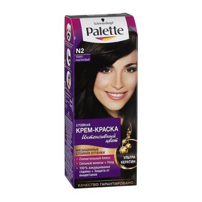 Palette Стойкая крем-краска для волос + маска-уход N2 Тёмно-каштановый