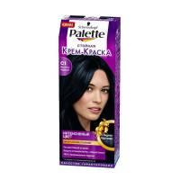 Стойкая крем-краска для волос + маска-уход С1 Иссиня-черный