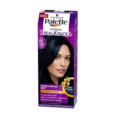 Palette Стойкая крем-краска для волос + маска-уход С1 Иссиня-черный