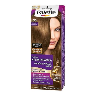 Palette Стойкая крем-краска для волос + маска-уход LG5 Темная карамель