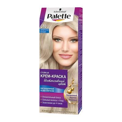Palette Стойкая крем-краска для волос + маска-уход C10 Серебристый блондин