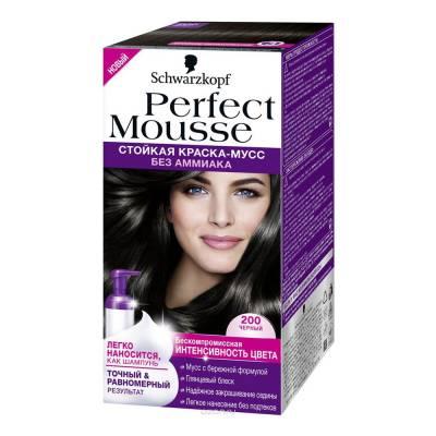 Краска-мусс для волос Perfect Mousse 200 Черный