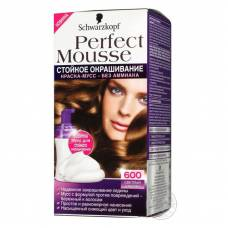 Краска-мусс для волос Perfect Mousse 600 Светлый Каштан